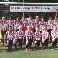 AFC34 JO14-1 - Alphense Boys JO14-1: Slordigheid resulteert in puntenverlies