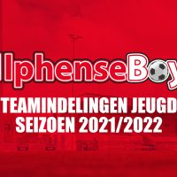 Teamindelingen Jeugd seizoen 2021/2022